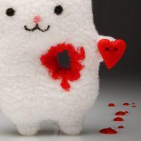 Игрушка Заяц  с вырванным сердцем Тэйк май харт